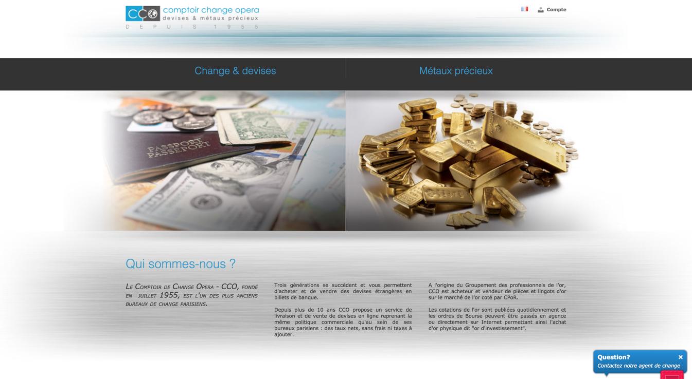 Cration de site Internet pour bureaux de change et comptoirs de